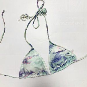 3/$20 Watercolour Triangle Bikini Top Halter Mint